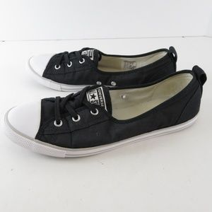 CONVERSE black lace up ALL STAR womens sz 10